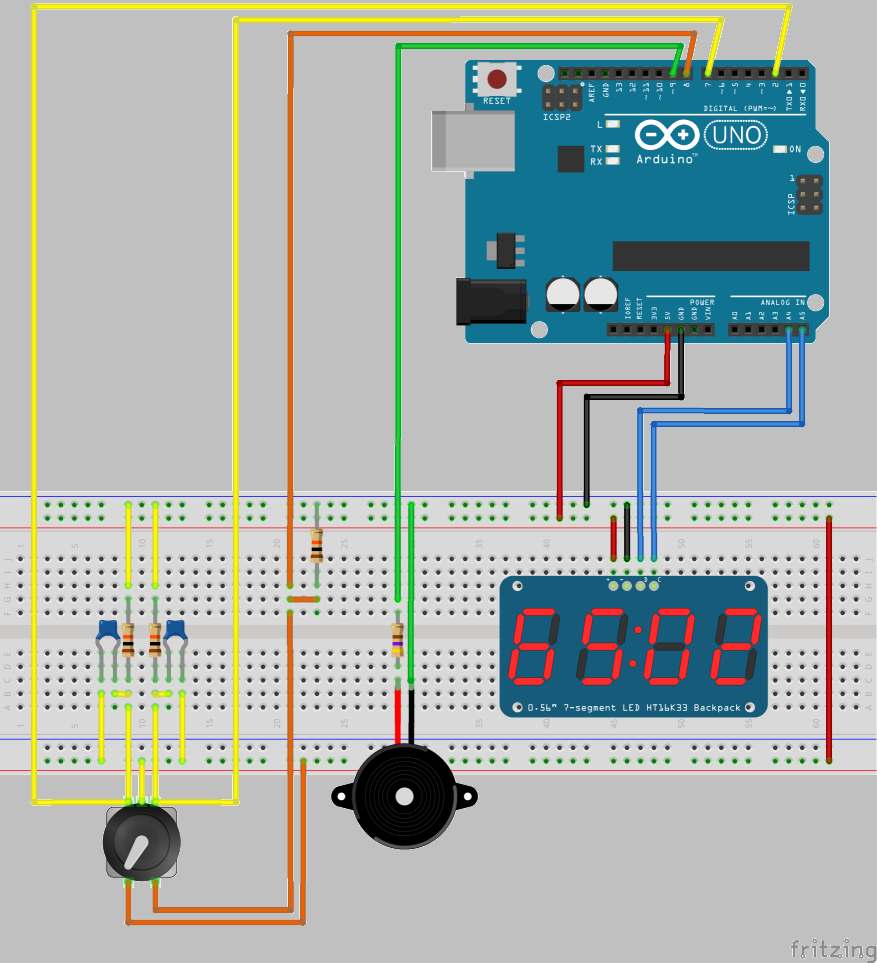 arduino projectstimer circuit diagram