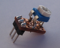 Picture of potentiometer soldered to Veroboard